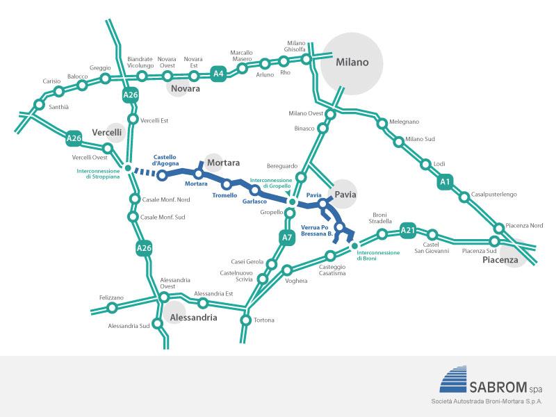 Autostrada regionale broni mortara integrazione del for Google planimetria